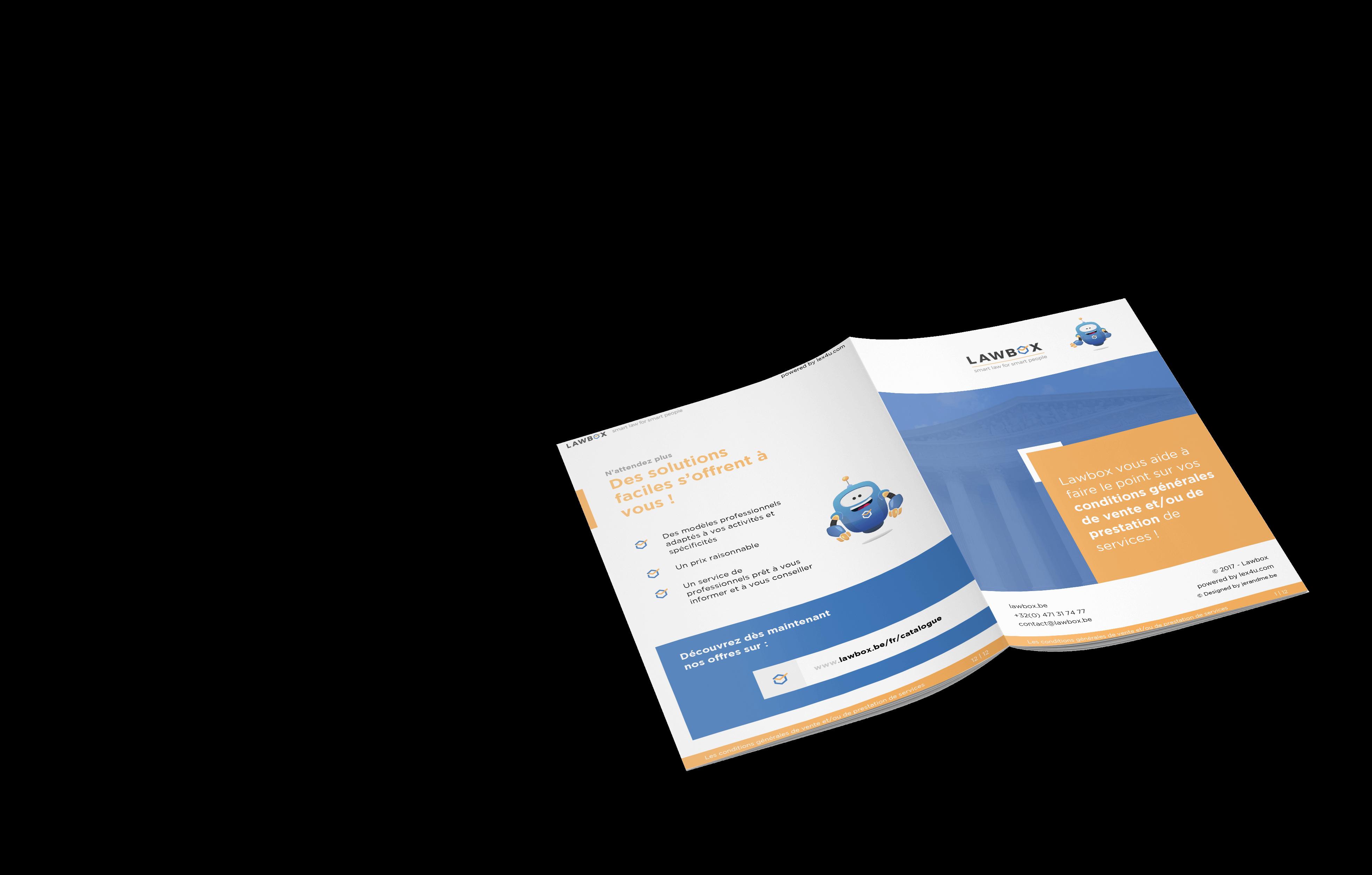 Création graphique d'une brochure web
