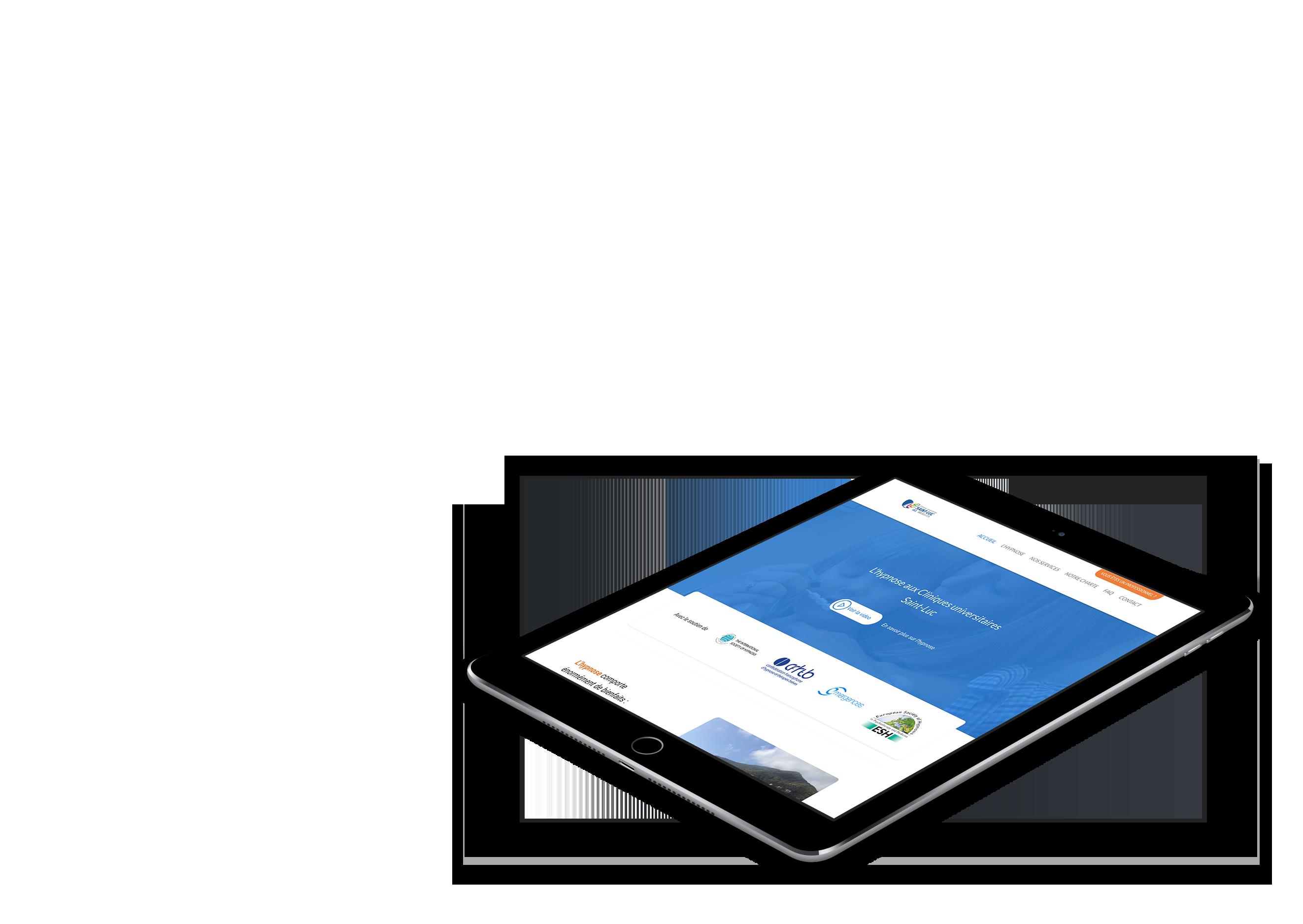 Site web des services d'hypnose des cliniques universitaires Saint-Luc